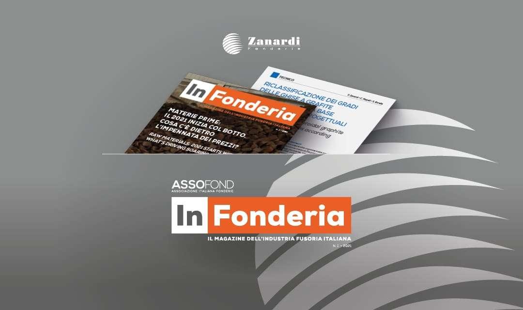 """La rivista """"In Fonderia"""" di Assofond pubblica in italiano il paper di Zanardi Fonderie sulla riclassificazione dei gradi di Ghisa Sferoidale Ferritica Perlitica e Ausferritica (ADI)"""