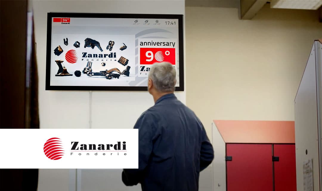 The new Infinitys' digital boards to improve communication between company and workers